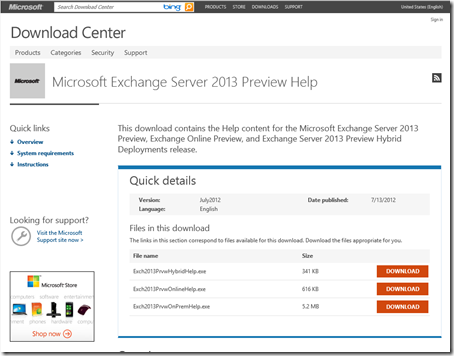 Exchange 2013 Preview Help File Download