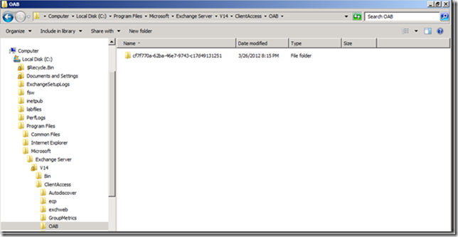 Exchange 2010 OAB Default Content