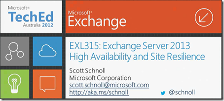 Exchange 2013 High Availability And Site Resilience