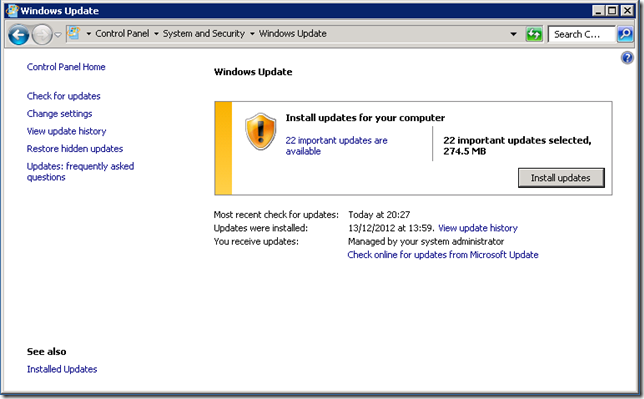 WSUS - Windows Management Framework 3.0