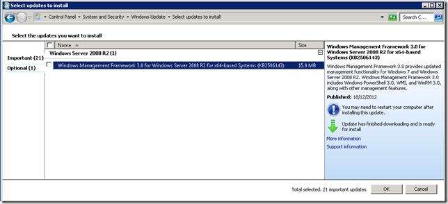 Update Shown As Optional in WSUS