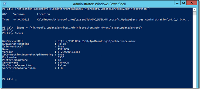 Managing WSUS with PowerShell