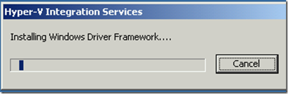 Hyper-V Integration Component Upgrade In Process