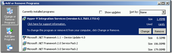 Starting Configuration Windows 2008 R2 Hyper-V Integration Components