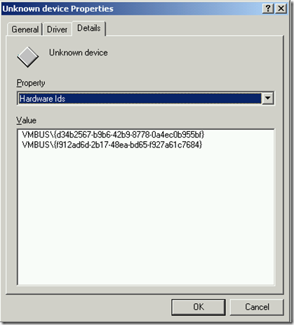Imported VM - Unknown Device Details