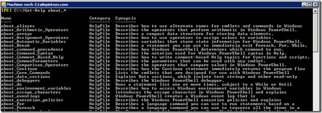 PowerShell Get-Help About_*