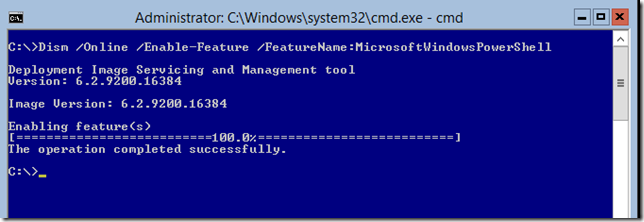 Using DISM To Install PowerShell
