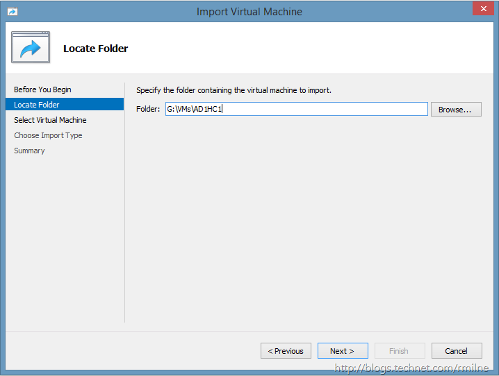 Importing a Virtual Machine From Windows 2008 R2 Hyper-V Into Windows 8.1