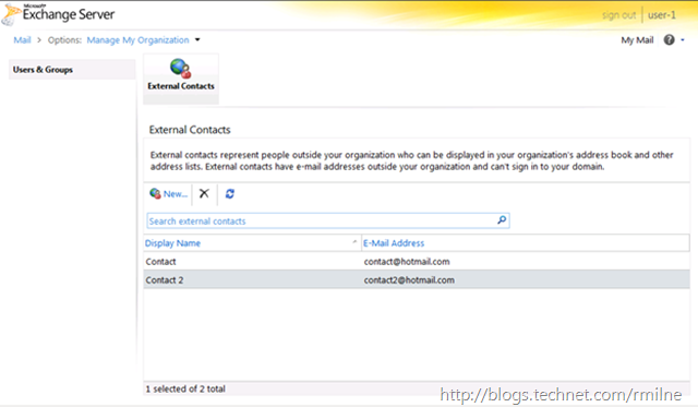 Exchange 2010 RBAC - ECP View Of Custom Role AD-Contact-Editors