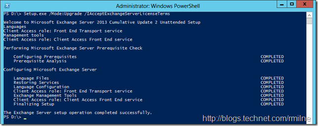 Exchange 2013 CU Install Failed Due To PowerShell Path
