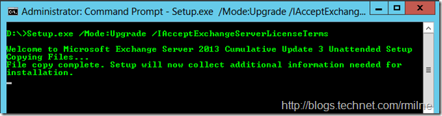 Exchange 2013 CU Install - CMD Looks At Current Folder First