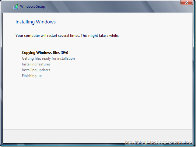 Install Windows 2012 Into VHD - Coffee Time