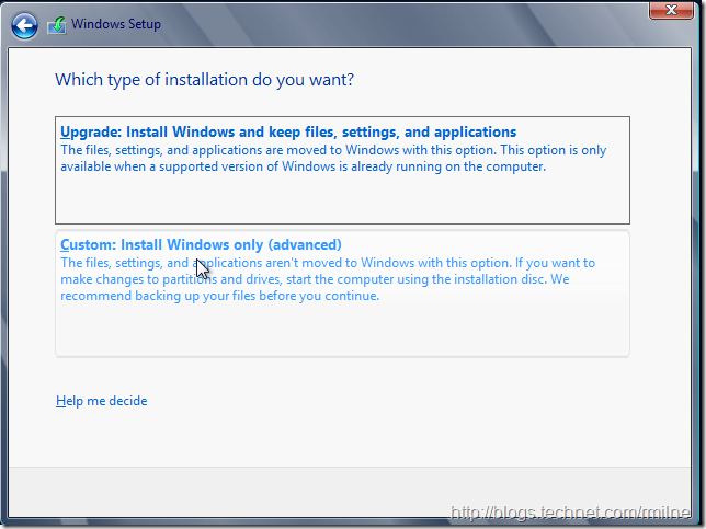 Install Windows 2012 Into VHD - Accept License Terms