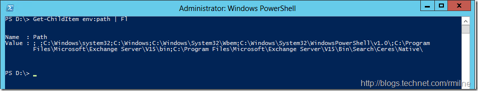 Checking PowerShell Environment Path Contents
