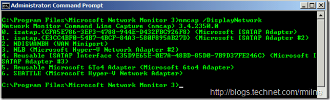 Discover Network Monitor Interfaces - NMCAP /DisplayNetwork