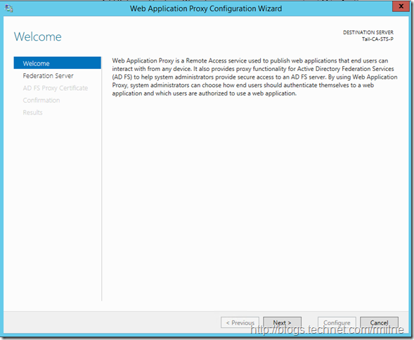 Configure 2012 R2 Web Application Proxy For ADFS