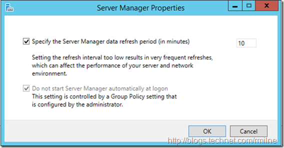 Disable Server Manager At Logon on Server 2012 R2 - Setting Applied