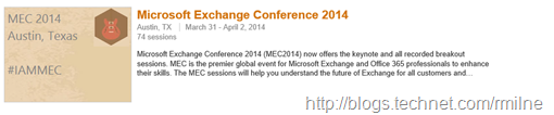 74 Awesome MEC Sessions - Nice !!