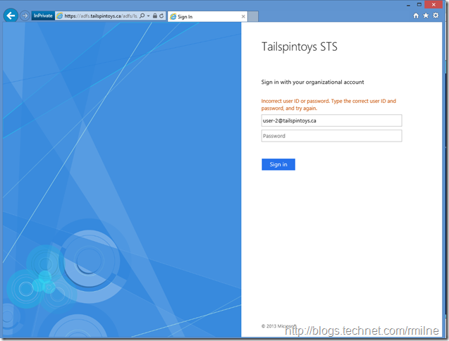 Sign In To Tailspintoys ADFS Authentication Page