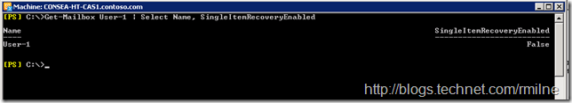 Mailbox Created Prior To Enabling Scripting Agent - SingleItemRecovery Was NOT Enabled Automatically