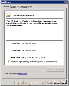 Properties Of Pending Certificate Request