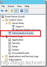 Built In Administrative Events Filter