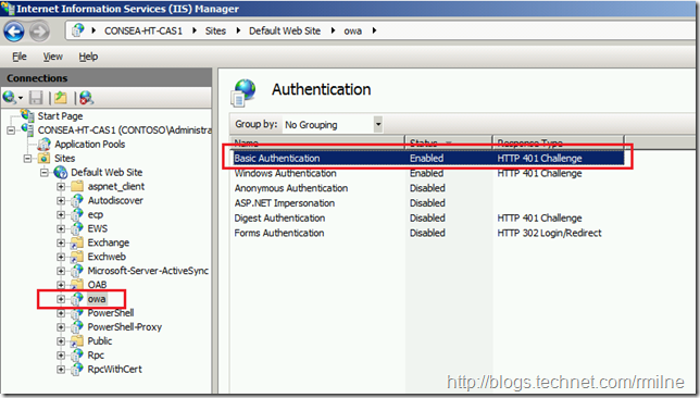 Basic Authentication Enabled In IIS Console