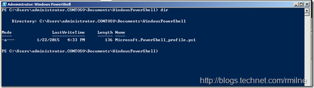 Windows PowerShell Profile Script Created On Disk