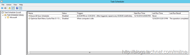AAD Sync Scheduled Task Is Disabled