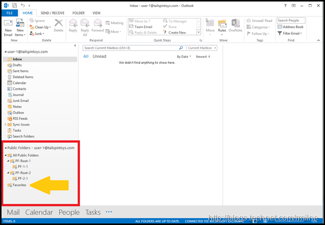 Voila - Public Folders Now Visible In Outlook