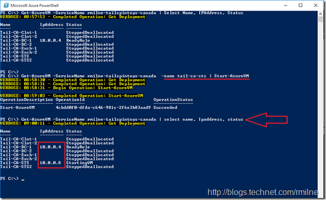 Static Azure Addreses Working When All VMs Set To Use Static Addresses