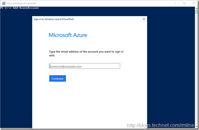 Add-AzureAccount Prompting For Credentials