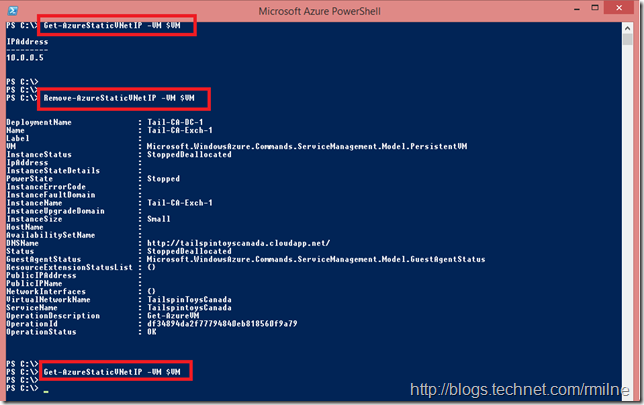 Removing Static IP From Azure VM