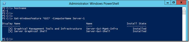 Windows 2012 Get-Windows Feature - Querying a  Remote Machine Using -ComputerName