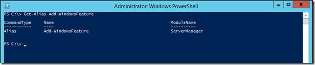 Checking Aliases For Add-WindowsFeature Cmdlet  On Windows Server 2012 R2