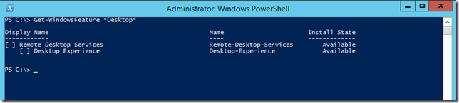 Windows Server 2012 R2 Get-WindowsFeature