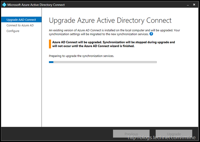 Upgrading Azure AD Connect Express Install