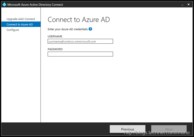 Upgrading Azure AD Connect Express Install  Configuration Upgrade