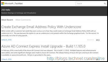 New TechNet Blog Layout