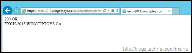 Exchange 2013 Load Balancer Healthcheck Page - OWA