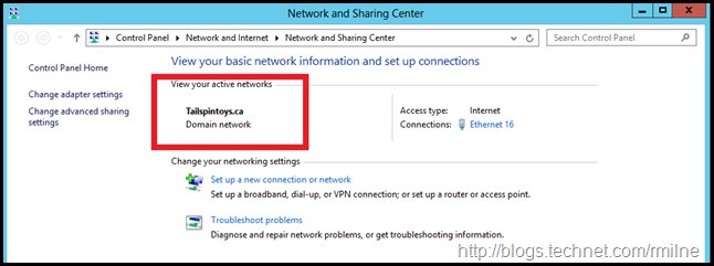 Checking Network Profile On PDC - Domain Profile Is Now Applied