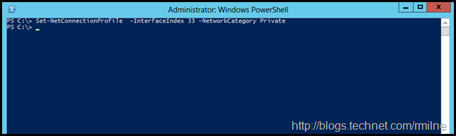 Setting Private Network Category Using PowerShell