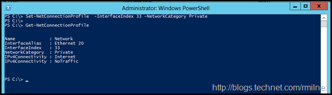 Checking Currnet Network Connection Profile Using PowerShell