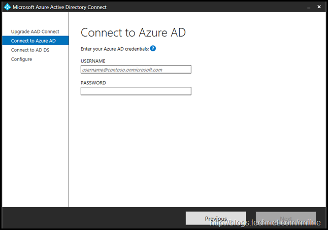 Upgrading Azure AD Connect Express Install Configuration Update