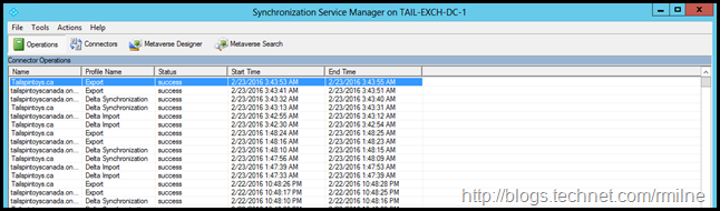 Azure AD Connect Synchronization Service Manager