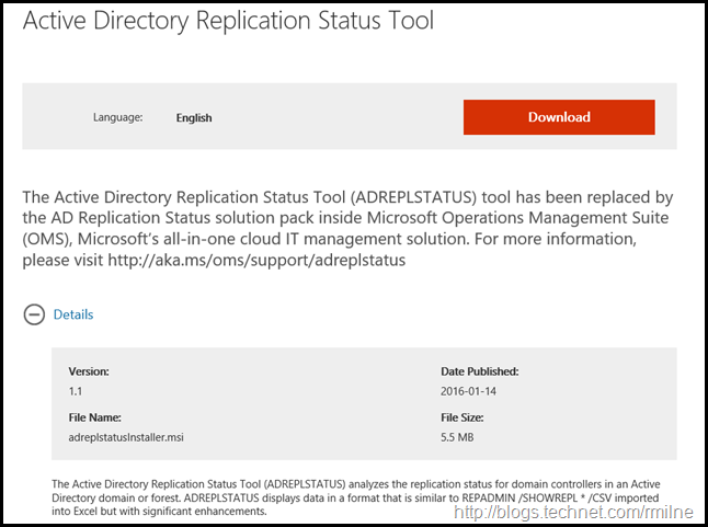 Active Directory Replication Status Tool  Download
