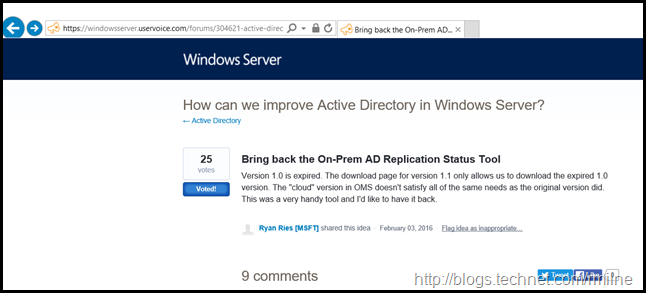 Active Directory Replication Status Tool On Windows Server Uservoice
