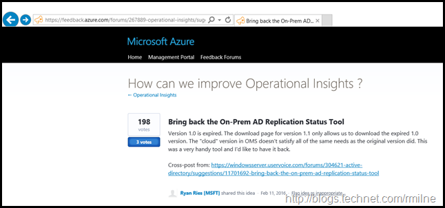 Active Directory Replication Status Tool On Azure Feedback