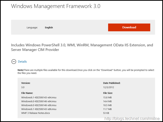Windows Management Framework 3.0 Download