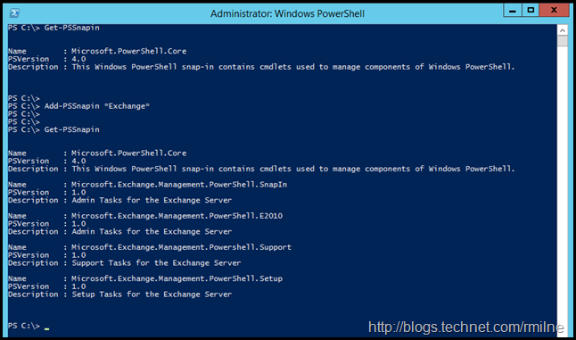 Caution - Directly Loading Exchange PowerShell SnapIn Only In Specific Circumstances